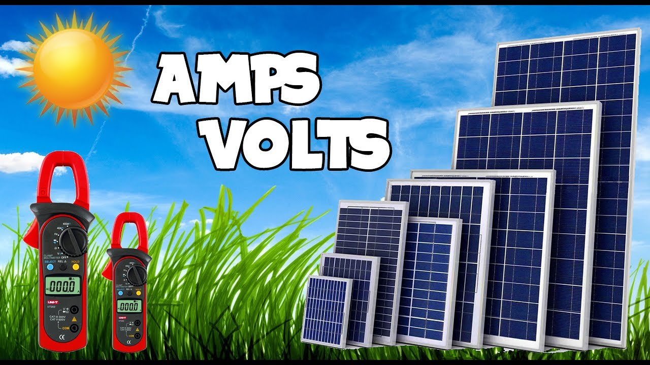 How to check amperes and voltages of solar panels || 300 Watts Solar Panel