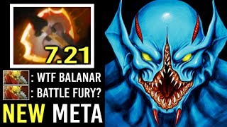 NEW META Battle Fury Night Stalker Easy Way To Farm Fast vs BH Epic Gameplay by Bleaster 7.21 Dota 2