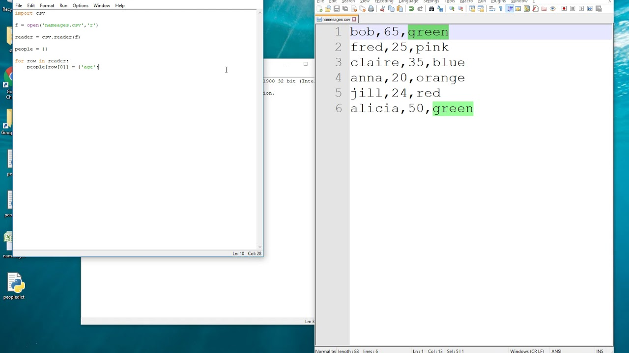 Reading a CSV file into a Python Dictionary
