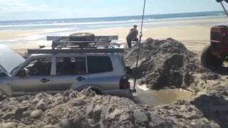 Moreton island bogged in quick sand part 1