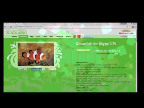 Dansk Tutorial Clownfish For Skype