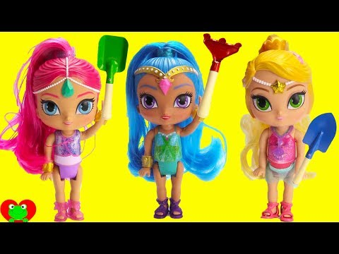 Shimmer and Shine Beach Treasure Hunt