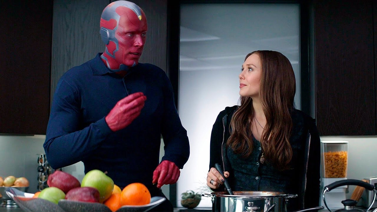 """Wanda and Vision - """"Is That Paprikash?"""" Kitchen Scene - Captain America: Civil War - Movie CLIP HD - YouTube"""