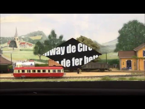 Trains miniatures : expo Model'Rail Mini   St-Etienne  Avril 2016 - HD