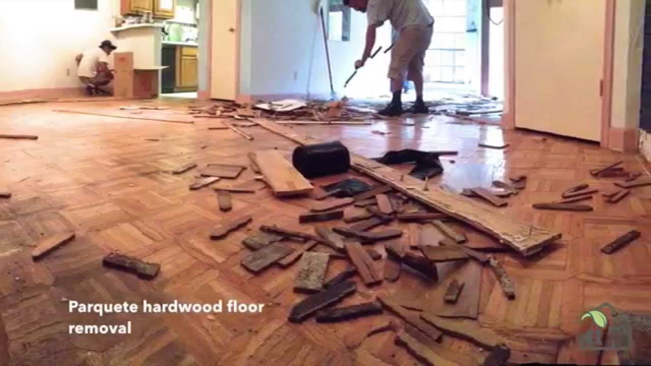 How to transfer Parquet Hardwood floor to Staggered Porcelain Tile ...