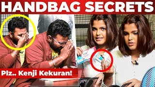 Ashiq's Reaction to TAMPONS! Pooja Devariya Handbag Secrets Revealed | What's Inside the HANDBAG