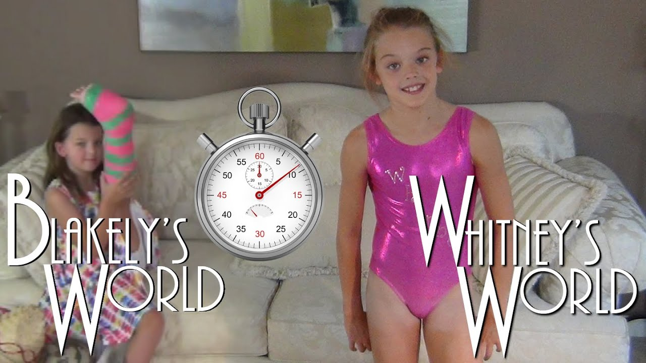60 Second Leotard Challenge Whitney And Blakely Youtube