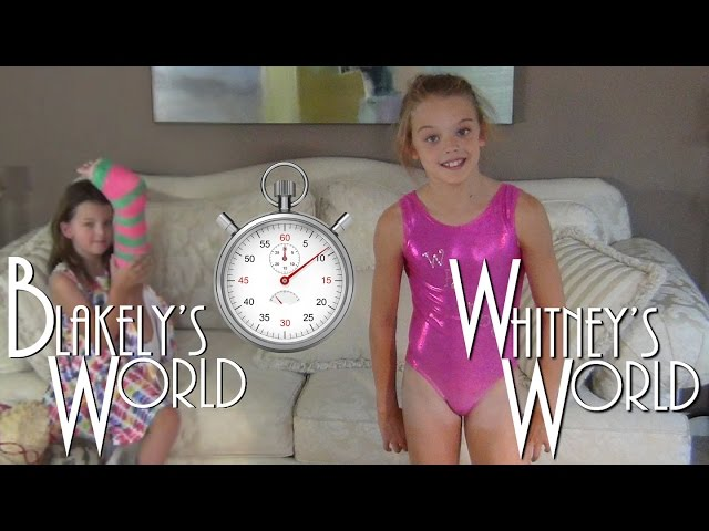 60 Second Leotard Challenge | Whitney and Blakely - clipzui.com->