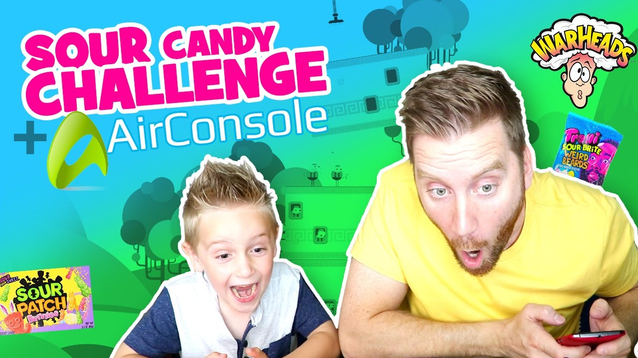 Sour Candy Challenge & AirConsole Arcade Games & Family Fun by KIDCITY!