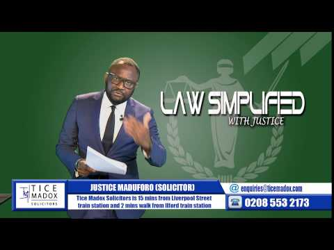 Tice Madox Solicitors- Immigration: Marriage of Convenience by Justice Maduforo (Solicitor)
