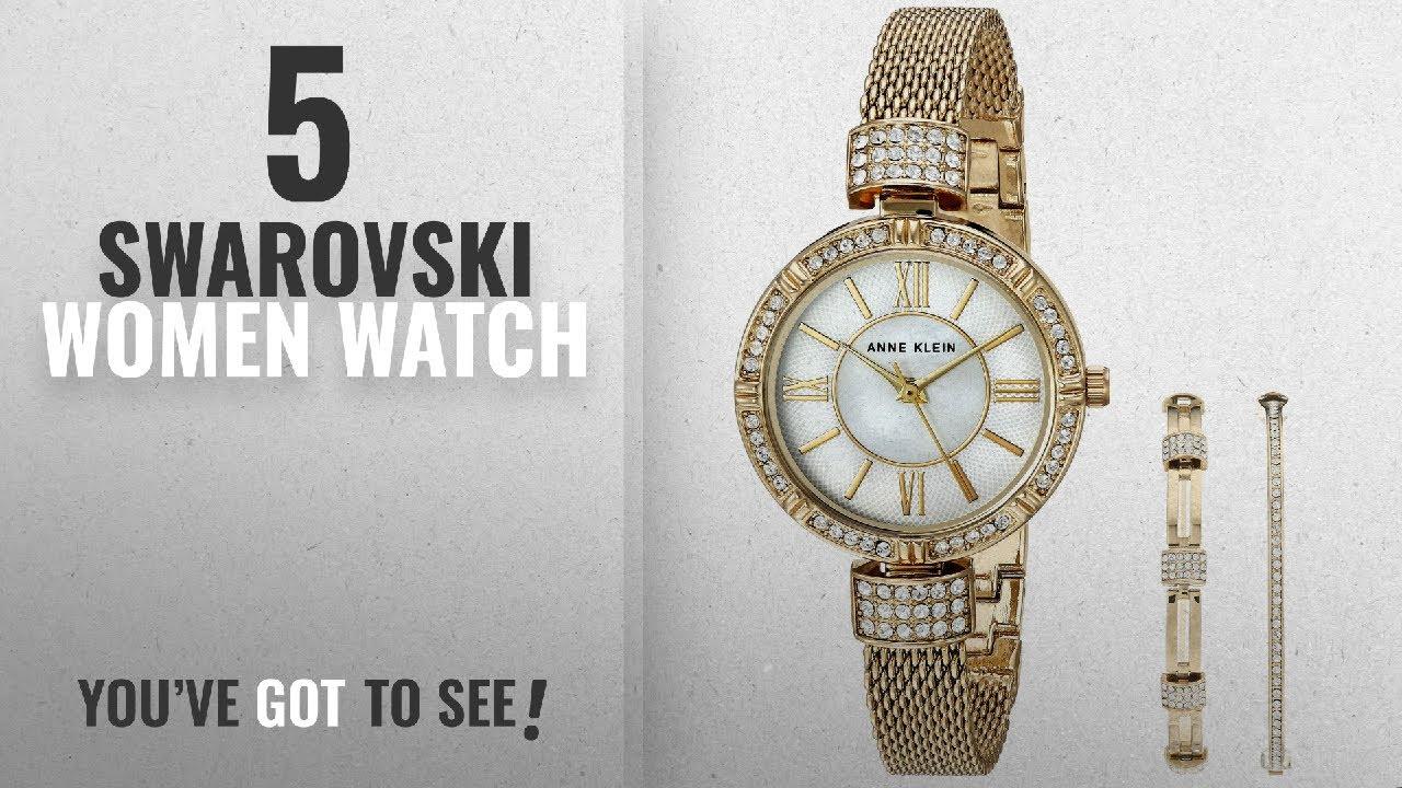 fd30d20f10624 Top 10 Swarovski Women Watch [2018]: Anne Klein Women's AK/2844GBST  Swarovski Crystal Accented