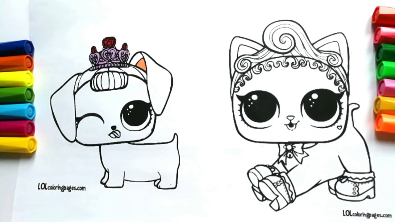 Beautiful LOL PETS SURPRISE COLORING BOOK VIDEO DIY