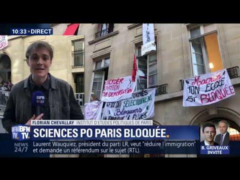 Mouvement étudiant: l'accès principal à Sciences Po Paris bloqué à son tour