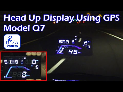 "GPS Car Head Up Display 5.5"" (HUD) - Model Q7"