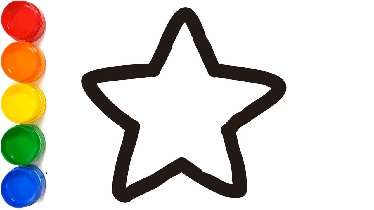 Belajar Menggambar Dan Mewarnai Bintang Dengan Glitter