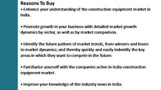 India Construction Equipment: Market Update