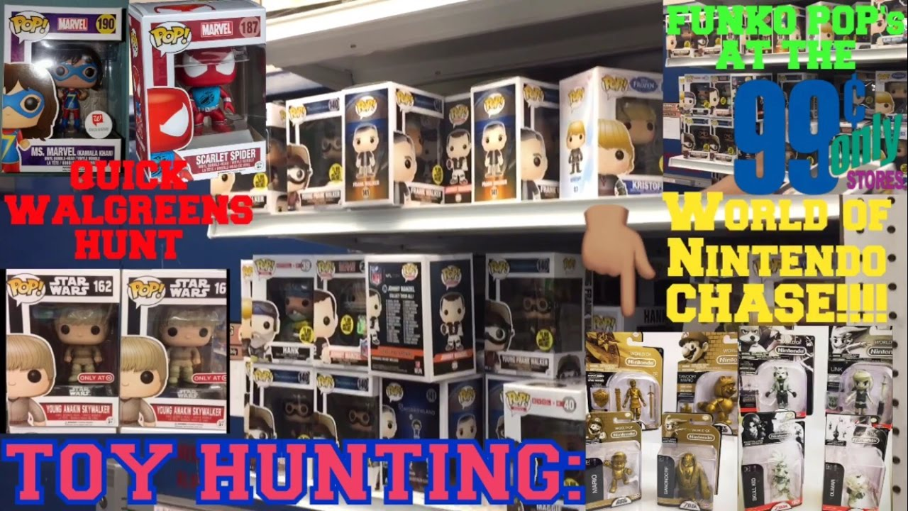 TOY HUNTING FUNKO POPS AT THE 99 CENT STORE