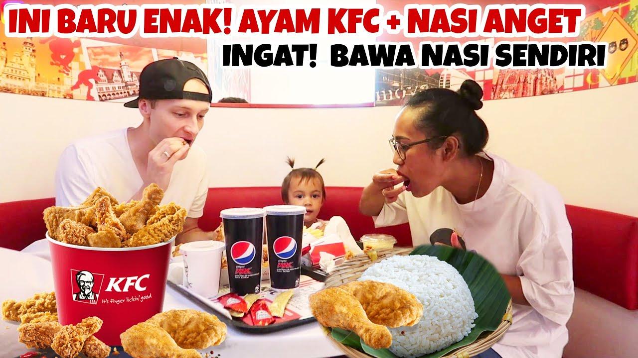 MAKAN KFC DI JERMAN BAWA NASI SENDIRI DARI RUMAH