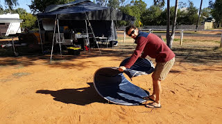 Nathan's tips for folding up a shower tent (without losing your cool!)