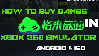 How To Buy Games In Xbox 360 Emulator Android And Iso..