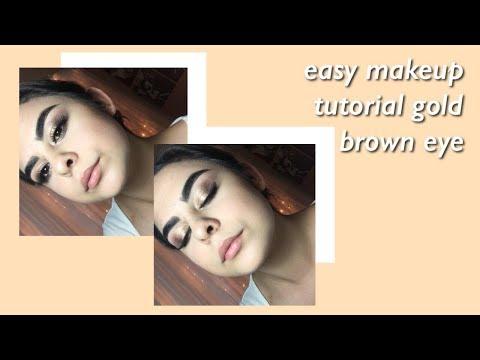 Tutorial de maquillaje Facil / Ojo marron dorado | RedMoon