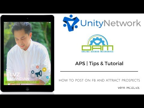 How To Post On Facebook To Attract Prospect and Get Your First Result In APS (Tagalog)