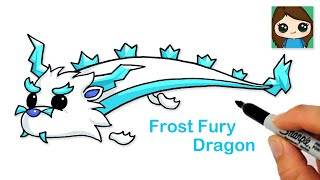How to Draw the Frost Fury Dragon  Roblox Adopt Me Pet