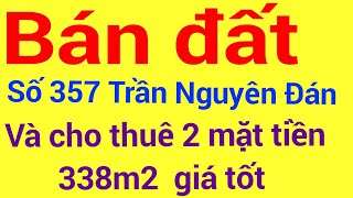 image Bán Đất Trần Nguyên Đán  và cho thuê 3 lô 2 Mặt tiền lh 0919738311