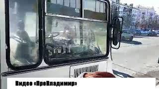 Во Владимире загорелся автобус МЧС с журналистами