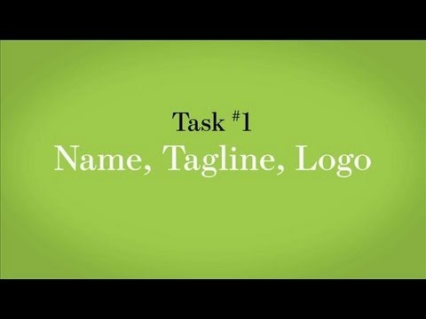 Task #1: Name, Tagline and Logo | WSJ Startup of the Year | Week 3
