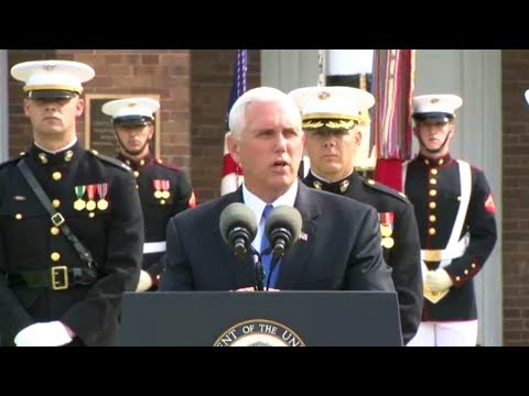 VP Mike Pence speech on anniversary of attack on Marine barracks in 1983 Beirut  October 23, 2017