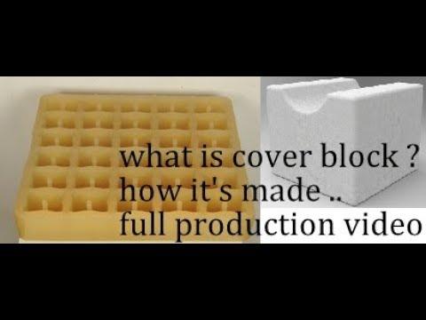 cover block spacer for rainforced concrete slab