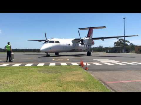 QantasLink Dash 8 200 | VH-TQG | Arrival, Startup, Takeoff | Port Macquarie
