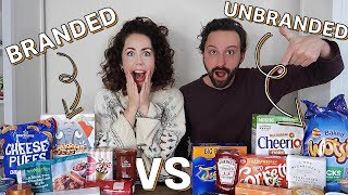 BRANDED VS UNBRANDED FOOD CHALLENGE 2019! | With Blindfold!
