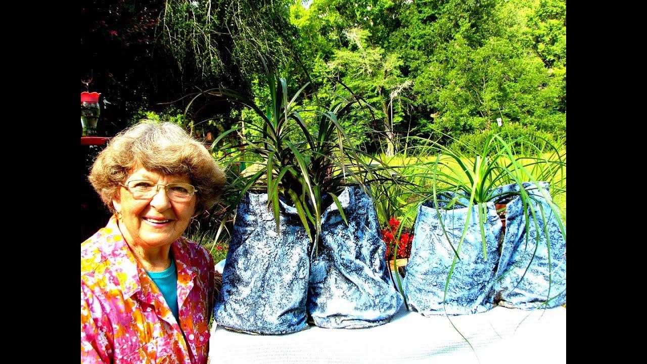 Denim Blue Jeans Flower Pots With Portland Cement Youtube