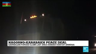 Azerbaijan rolls into Lachin district, the last area ceded by Armenia