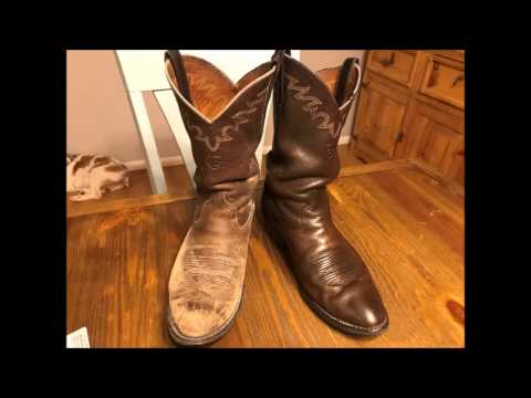Brown Cowboy Boots Muddy