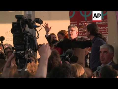 Jean-Luc Melenchon on the campaign trail