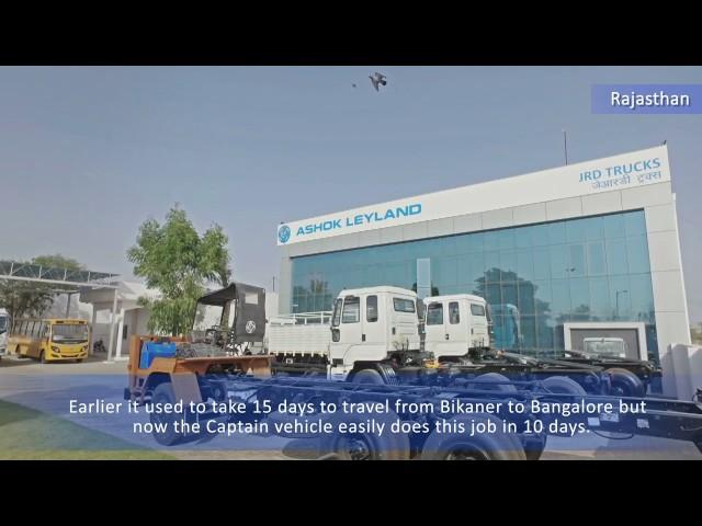Ashok Leyland Customer Testimonial Bikaner - Captain 4923