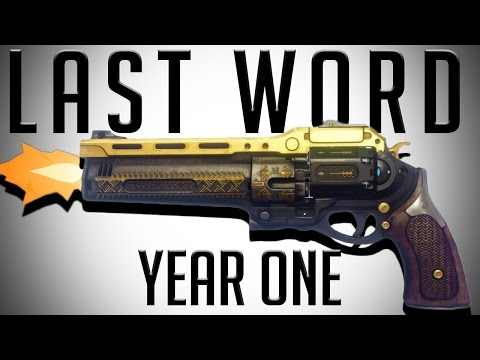 The Destiny Vault: Year 1 Last Word Snipes