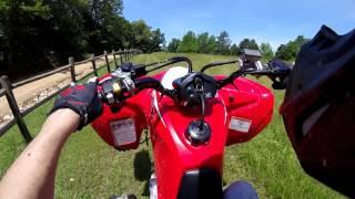 Trx 400x Honda first ride