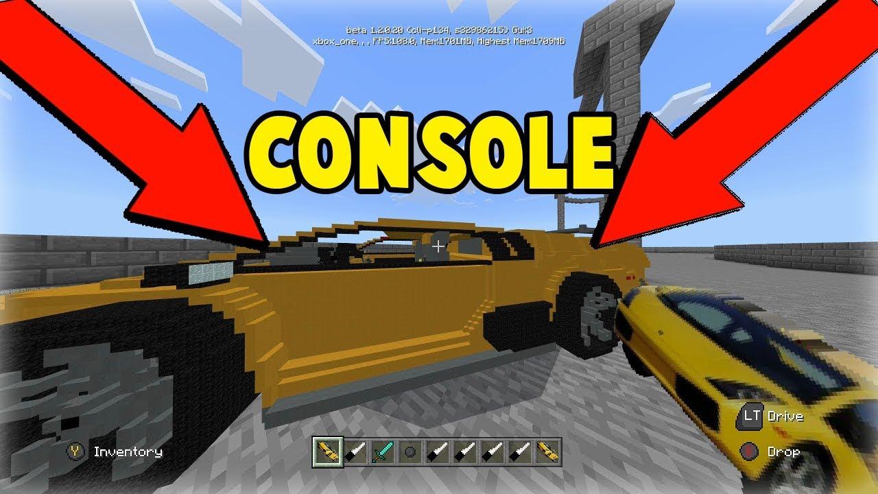 Minecraft Console/PE/Windows 10 Lamborghini Mod Download l Working