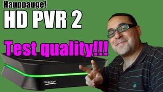 HD PVR 2 - software settings and quality test HD Português