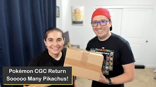 Mega Pikachu Pokémon Trading Card Return from the Certified Guaranty Company (CGC)