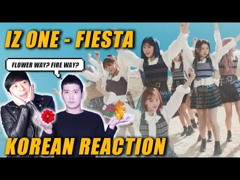 🔥(ENG) KOREAN Rappers React To IZ*ONE (아이즈원) - 'FIESTA' 🔥