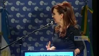 CFK - Discurso UMET