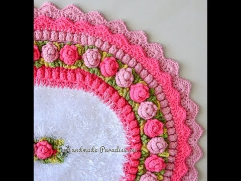 Crochet Patterns  for free  crochet floor rug  2313 - YouTube