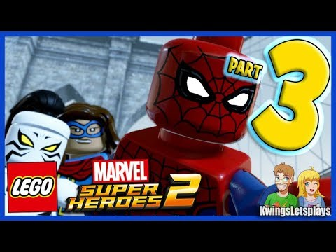 LEGO Marvel Super Heroes 2 -Walkthrough Part 3 Avenger's Tour Ironman & Spider-Man