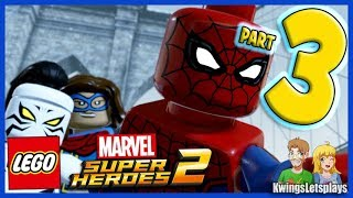 Lego Marvel Super Heroes 2 - Walkthrough Part 3 Avenger's Tour Ironman & Spider-Man