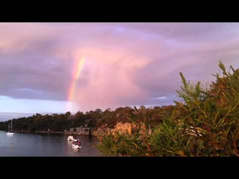 Rainbow, Swan river, Bicton, Australia. Videos/Slideshows from around the world